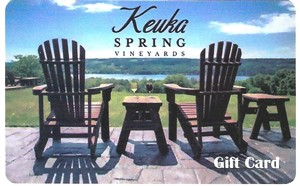 Image of Keuka Spring Vineyards Gift Card (plastic, business card-sized)