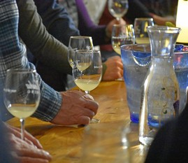 Tasting at Holiday Barrel Tasting