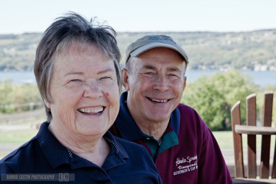 Photo of Judy and Len Wiltberger, owners and founders of Keuka Spring Vineyards