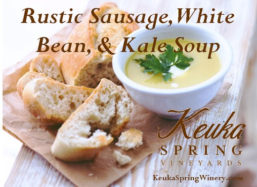 Rustic Sausage, White Bean, and Kale Soup